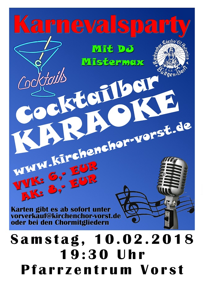 Plakat Karaokeparty Vorlage Flyer